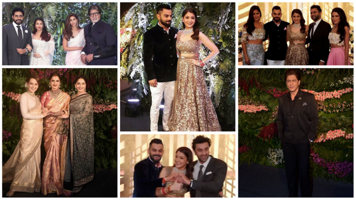 Inside Anushka Sharma and Virat Kohli's star studded reception