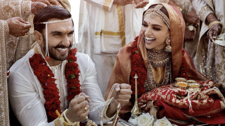 The first pictures from #DeepVeerKiShaadi are here and she's trulyPadmavati