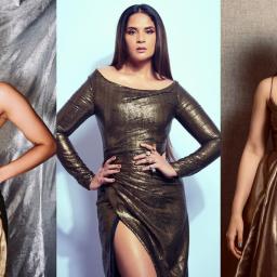 Girls in gold – Radhika Madan, Richa Chadha & Radhika Apte