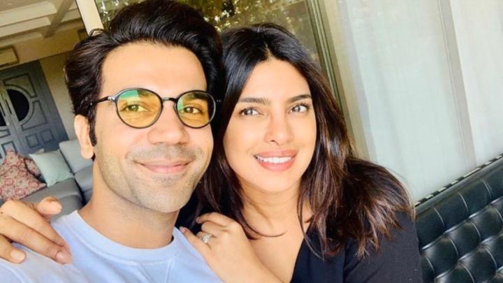 Rajkummar Rao shares a selfie with his next co-star, Priyanka ChopraJonas