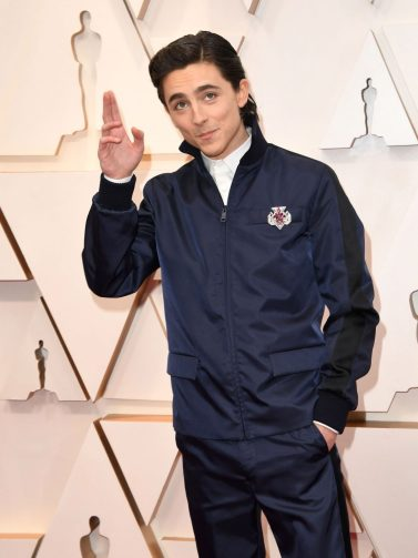 Timothée Chalamet in Prada 1