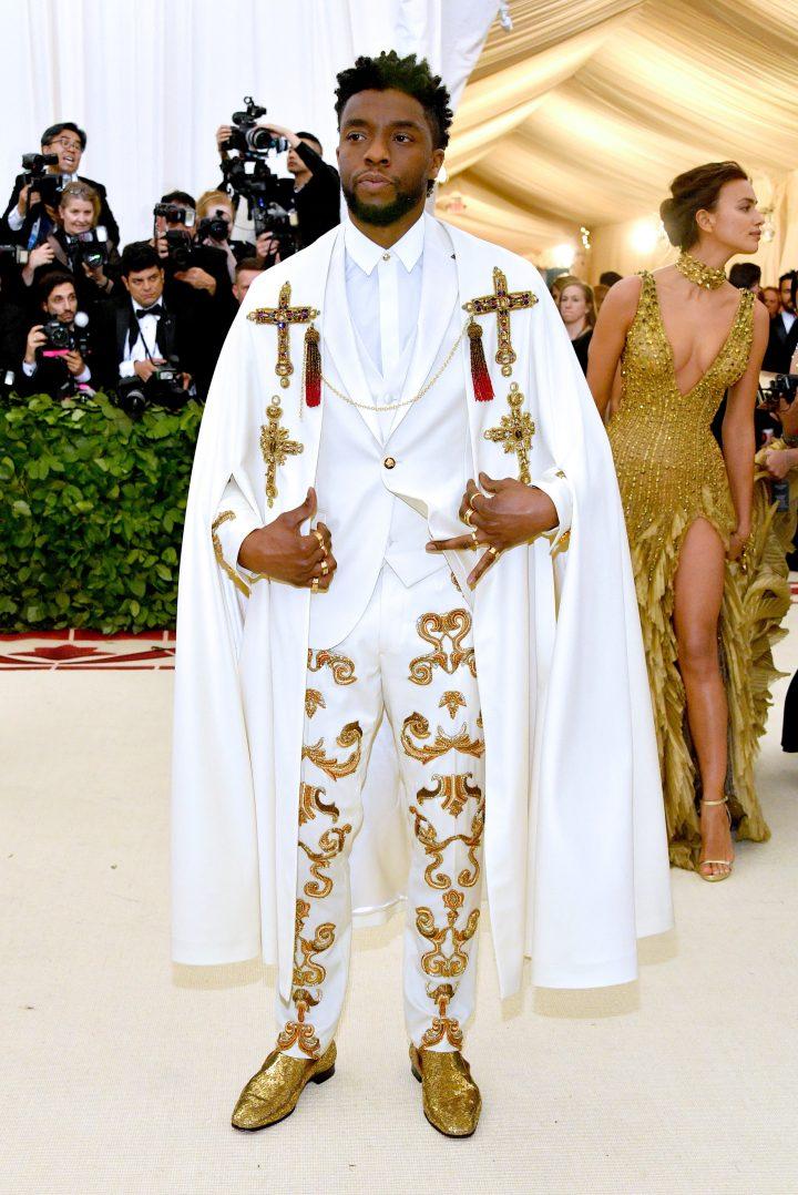 Chadwick Boseman in Versace2018