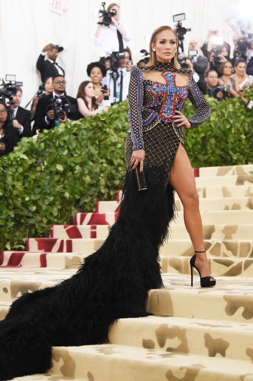 Jennifer Lopez in Balmain 2018