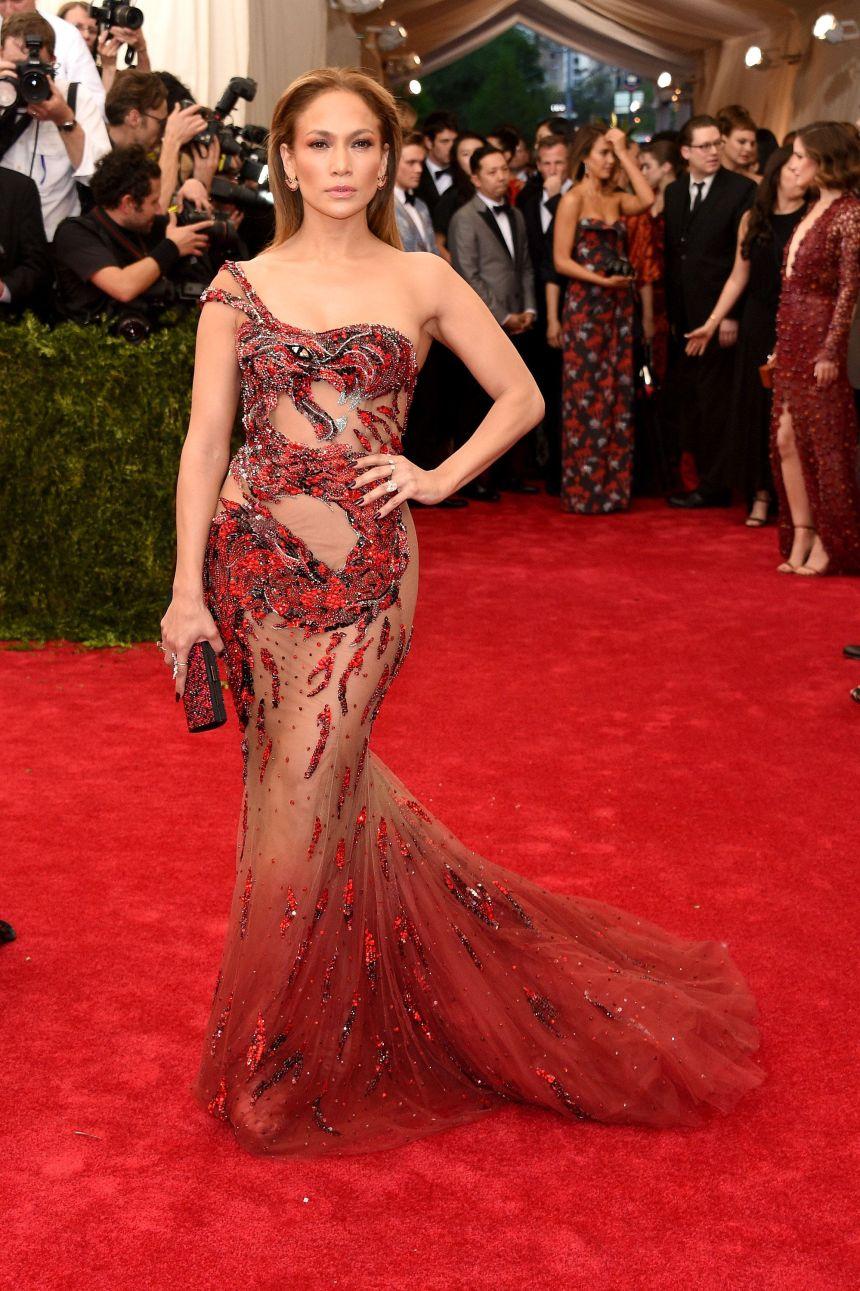 Jennifer Lopez in Versace 2015