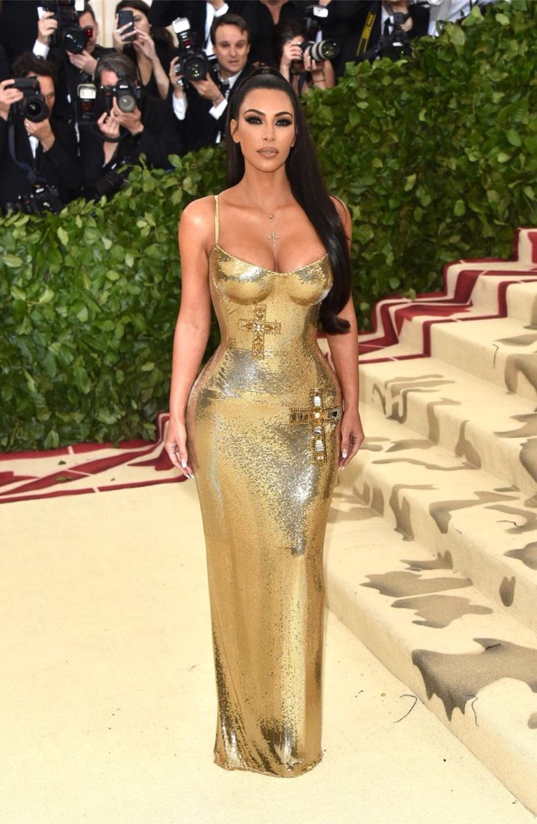 Kim Kardashian in Atelier Versace 2018
