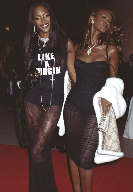Naomi Campbell and Iman in Dolce & Gabbana 2000