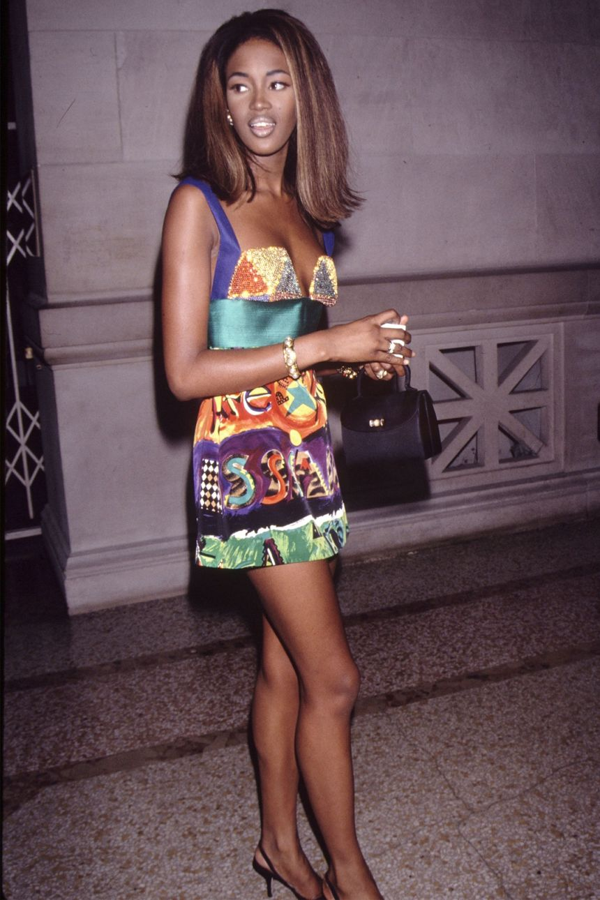Naomi Campbell in Versace 1990