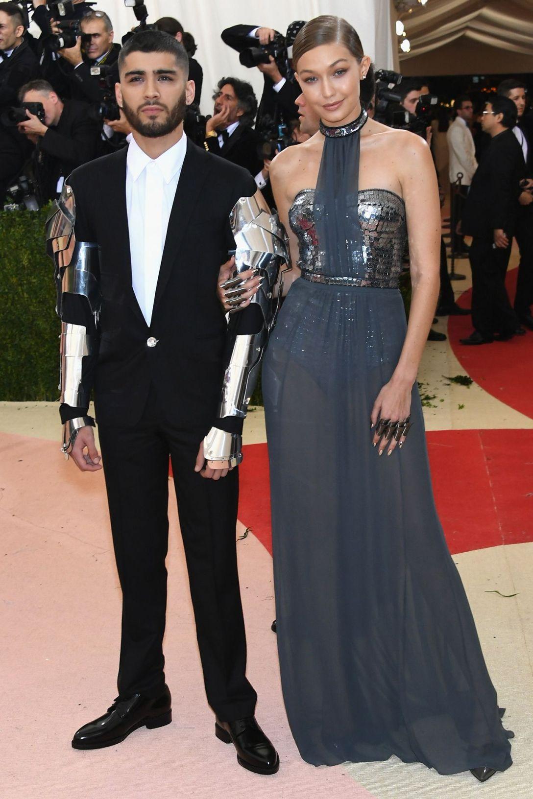 Zayn Malik in Versace (with Gigi Hadid)2016