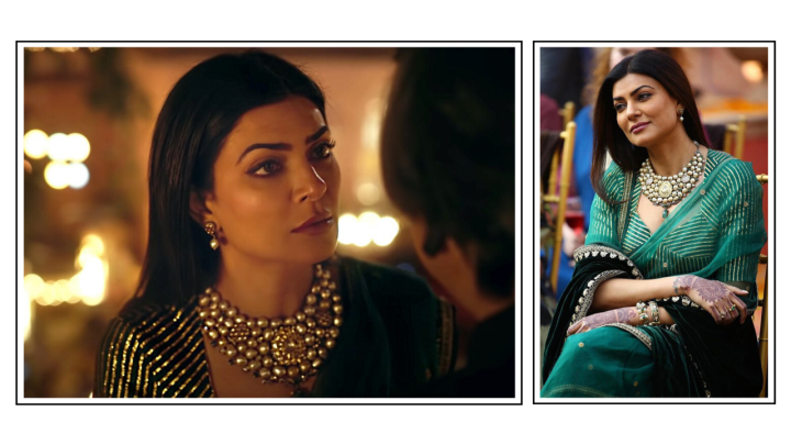 Here's How You Can Get Sushmita Sen's Green And Gold Saree Look From Disney+ Hotstar's Aarya