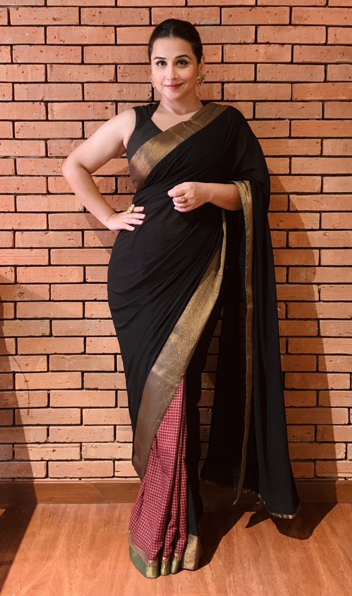 Vidya Balan in a saree bought from a weaver