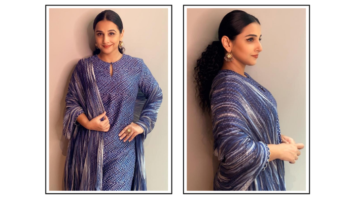 Vidya Balan's Punit Balana kurta set for Shakuntala Devi promotions is the Rakshabandhan look you need