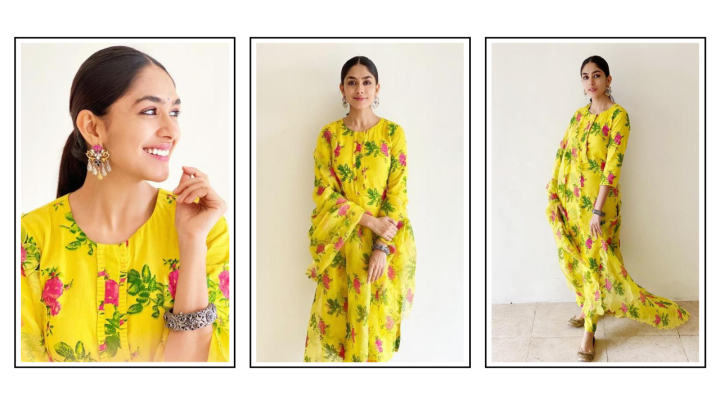 Mrunal Thakur's yellow kurta from Label Earthen is a must have