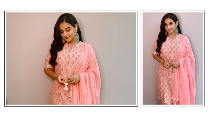 Vidya Balan's block print kurta makes for a bright change on gloomy monsoondays
