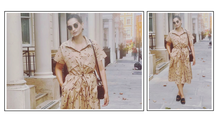 Sonam Kapoor Ahuja's tan brown dress from Bhaane deserves your attention