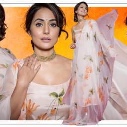 Hina Khan's Kurta Set is Perfect for an Intimate Puja